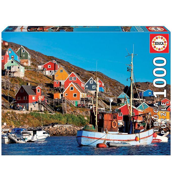 Image of Educa Puslespil - 1000 Brikker - Nordic Houses (XA453)