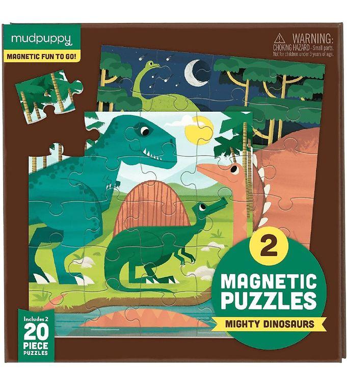 Image of Mudpuppy Magnestisk Puslespil - 20 Brikker - Dinosaur (XA502)