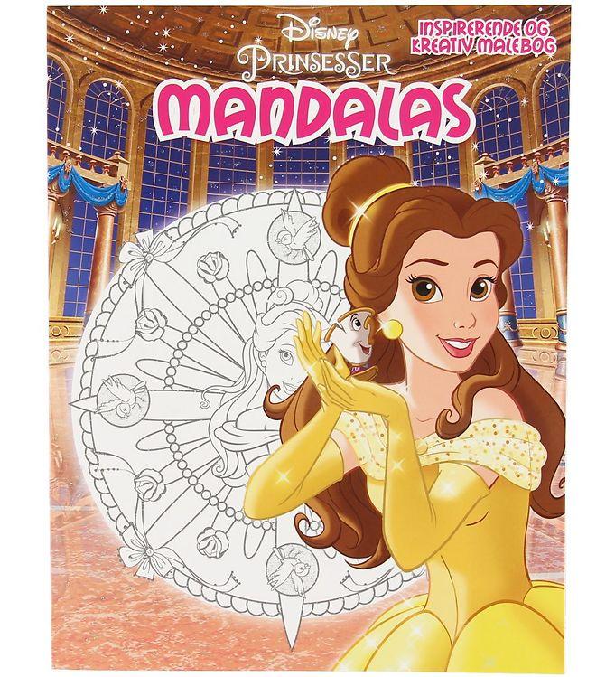 Image of Karrusel Forlag Malebog - Mandalas - Disney Prinsesser (XA536)