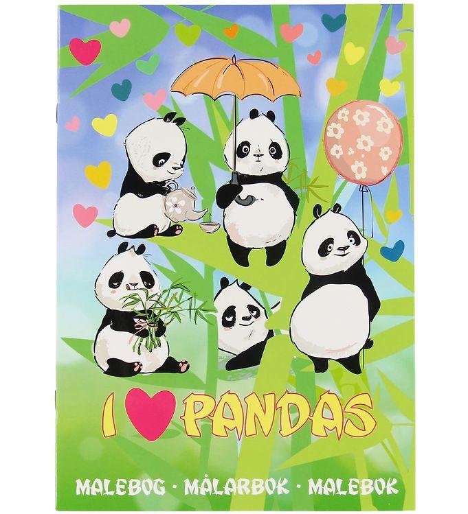 Image of Karrusel Forlag Malebog - I Love Pandas (XA541)