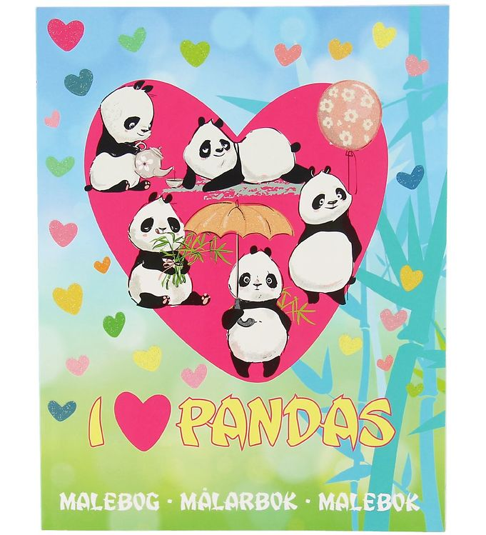 Image of Karrusel Forlag Malebog - I Love Pandas (XA549)