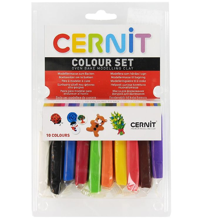 Image of Cernit Polymer Ler - 10 Farver - Startsæt (XA622)