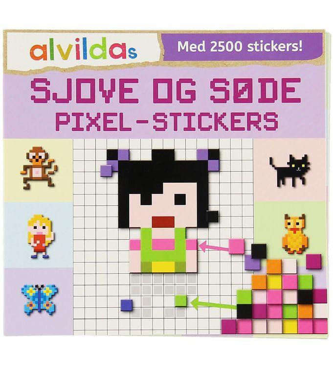 Image of Alvilda Aktivitetsbog m. Klistermærker - Sjove og Søde Pixel-Sti (XA777)