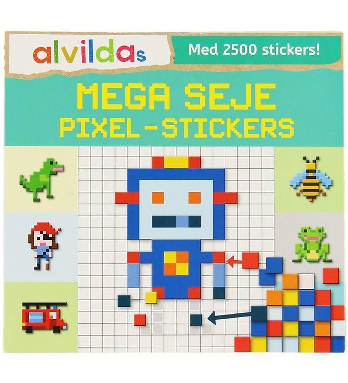 Image of Alvilda Aktivitetsbog m. Klistermærker - Mega Seje Pixel-Sticker (XA778)