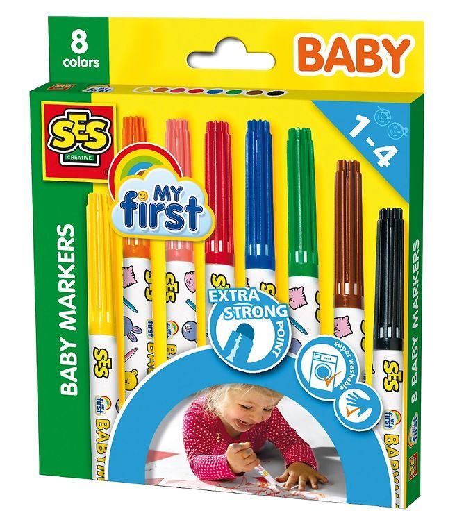 Image of SES Creative - Babyfarver - 8 Farver (XA799)