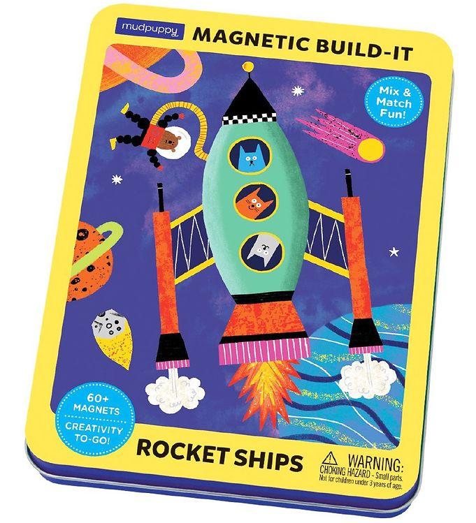 Image of Mudpuppy Magnetfigurer - Build It - Raketter (XA882)