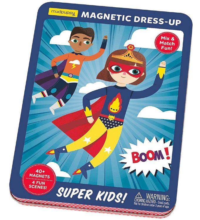 Image of Mudpuppy Påklædningsdukker - Magnetisk - Super Kids (XA884)