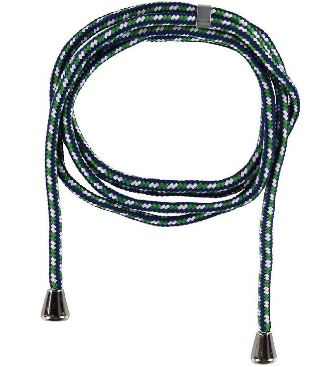 Image of Bows By Stær Ekstra Snor - Iphone Necklace - Navy/Grøn/Hvid (XA928)