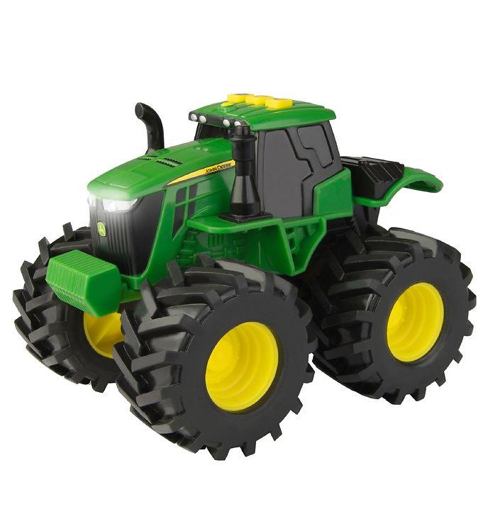 Image of John Deere Traktor m. Lys/Lyd - Gul/Grøn (XA941)
