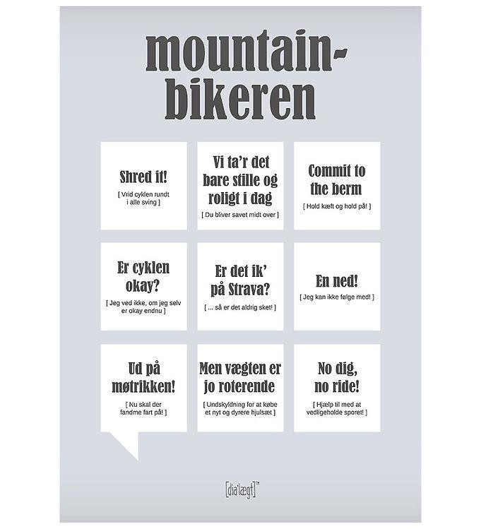 Image of Dialægt Plakat - 30x42 - Mountainbikeren (XA943)