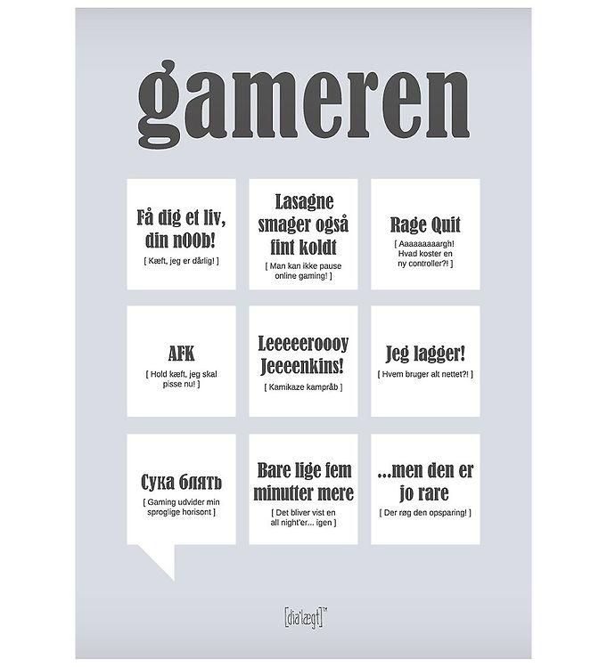 Image of Dialægt Plakat - 30x42 - Gameren (XA945)