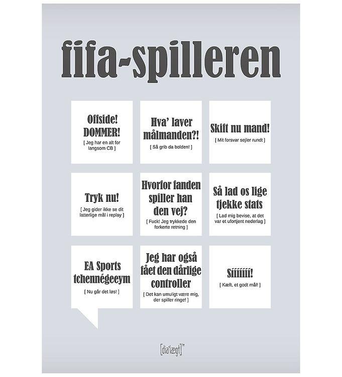 Image of Dialægt Plakat - 30x42 - Fifa-Spilleren (XA948)