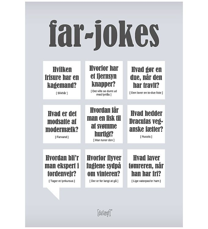 Image of Dialægt Plakat - 30x42 - Far-Jokes (XA951)
