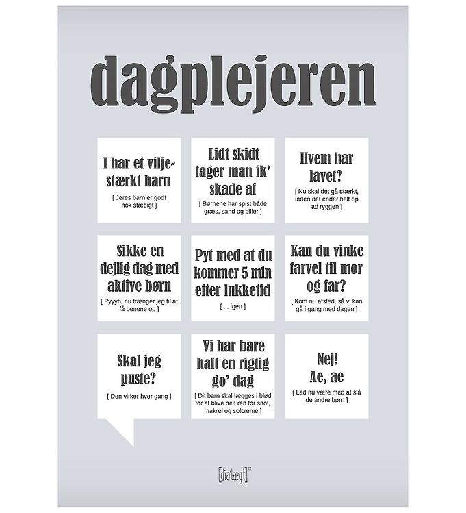 Image of Dialægt Plakat - 30x42 - Dagplejeren (XA955)