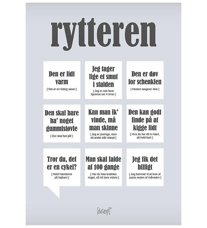 Image of Dialægt Plakat - 30x42 - Rytteren (XA956)
