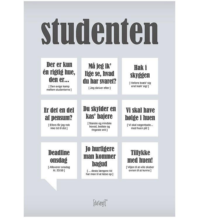 Image of Dialægt Plakat - 30x42 - Studenten (XA960)