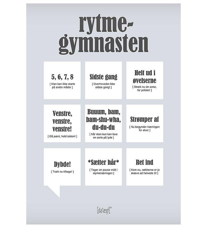 Image of Dialægt Plakat - 30x42 - Rytme-Gymnasten (XA963)