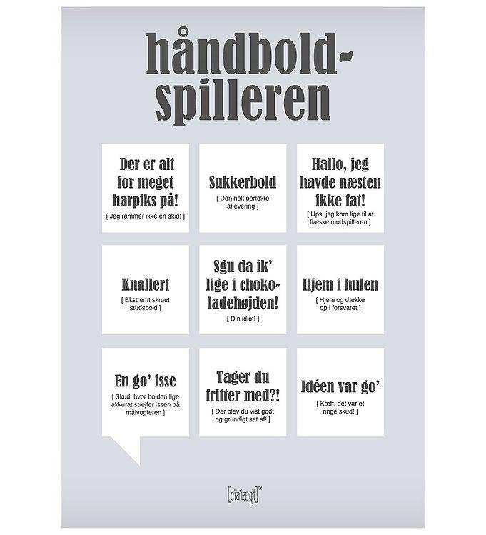 Image of Dialægt Plakat - 50x70 - Håndbold-Spilleren (XA977)