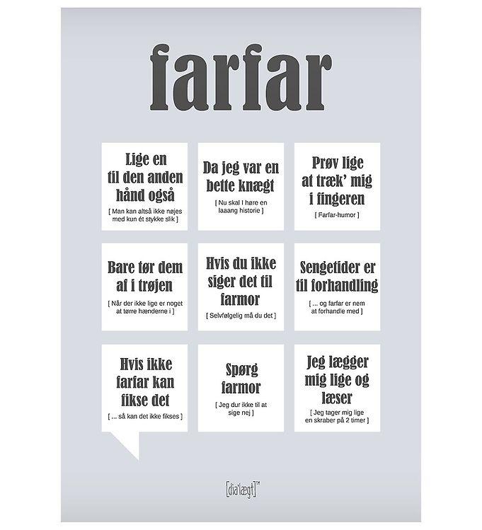 Image of Dialægt Plakat - 50x70 - Farfar (XA982)