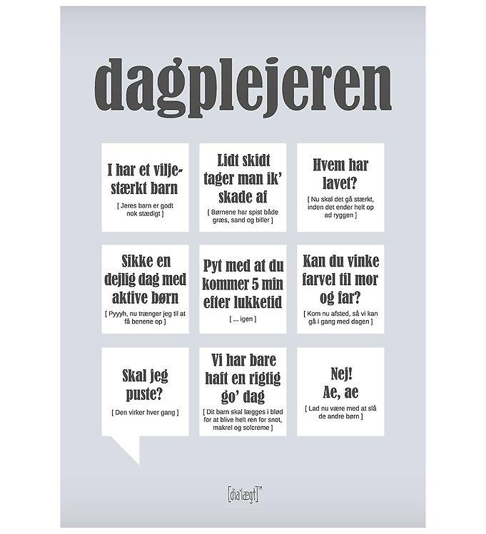 Image of Dialægt Plakat - 50x70 - Dagplejeren (XA983)