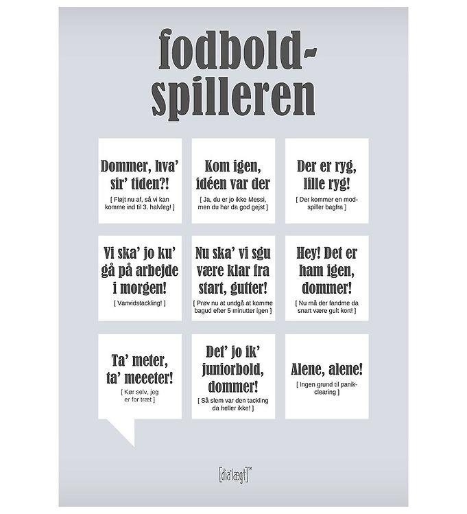 Image of Dialægt Plakat - 50x70 - Fodboldspilleren (XA984)