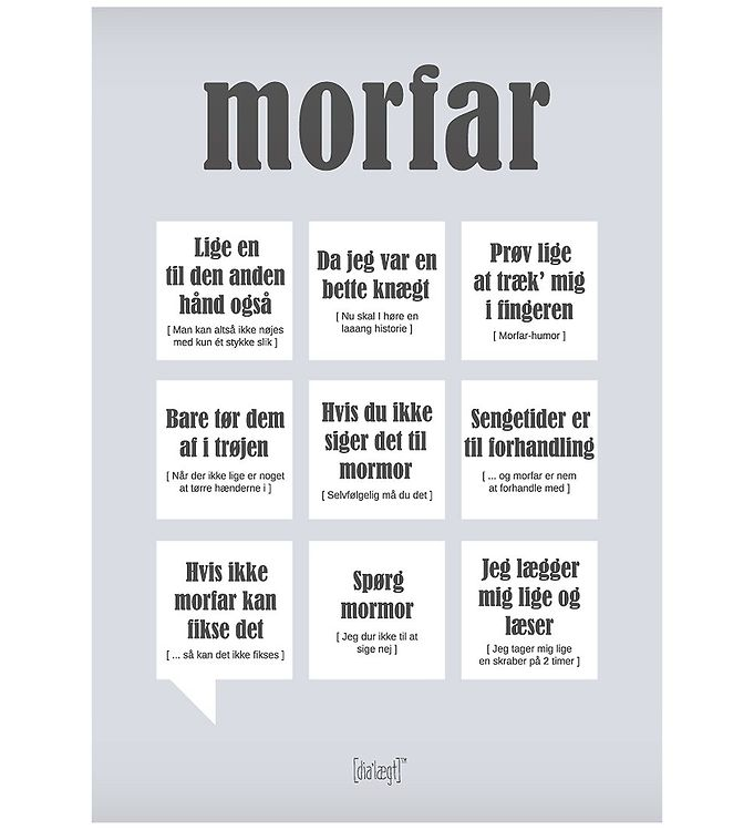 Image of Dialægt Plakat - 50x70 - Morfar (XA986)