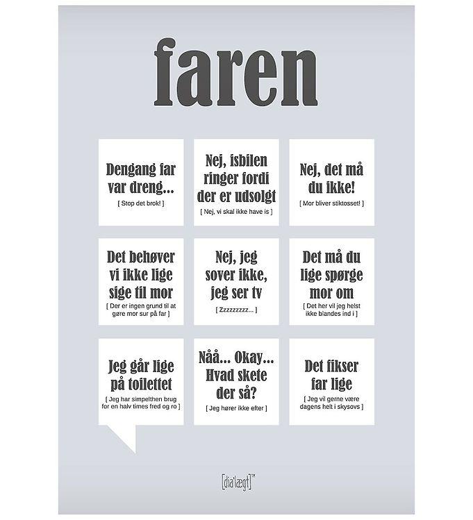 Image of Dialægt Plakat - 50x70 - Faren (XA995)