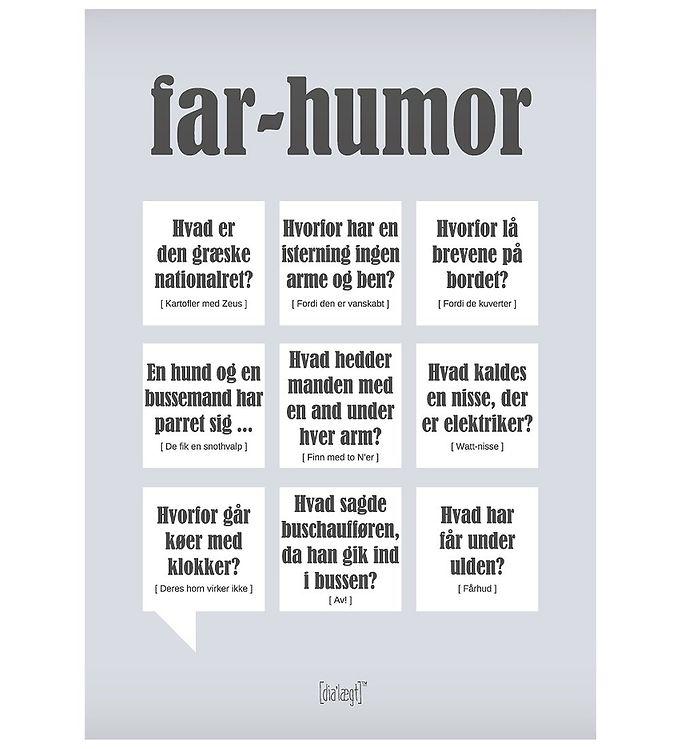 Image of Dialægt Plakat - 50x70 - Far Humor (XA999)