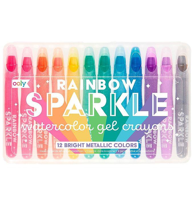 Image of Ooly Farvekridt - Vandfarve - Rainbow Sparkle - 12 stk (XB043)