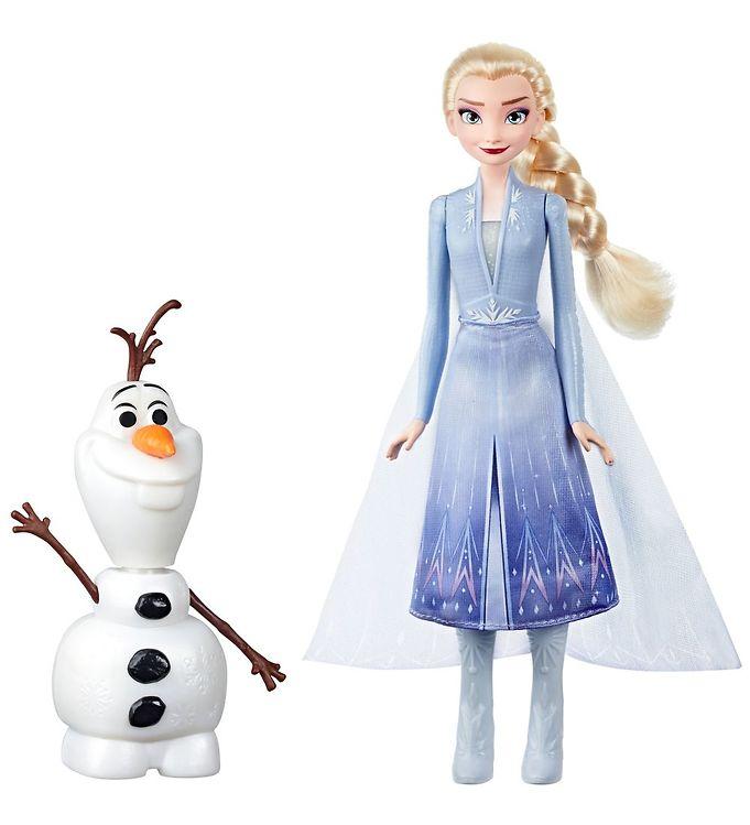 Image of Disney Frozen II Dukke m. Tilbehør - 27 cm - Olaf & Elsa (XB146)