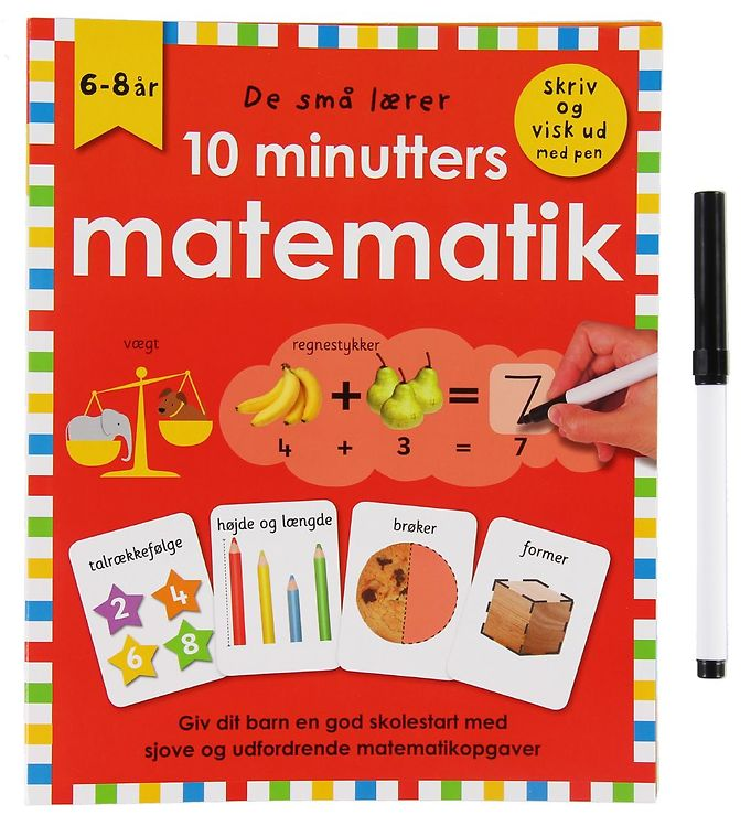 Image of Alvilda Bog - De Små Lærer - Skriv og Visk ud - 10 Minutters Mat (XB239)