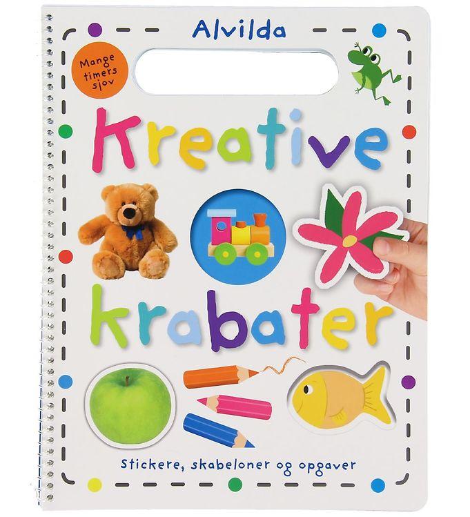Image of Alvilda Aktivitetsbog m. Klistermærker - Kreative Krabater (XB241)