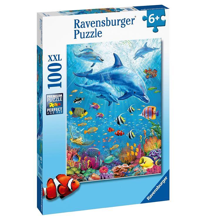 Image of Ravensburger Puslespil - 100 Brikker - Delfiner (XB393)