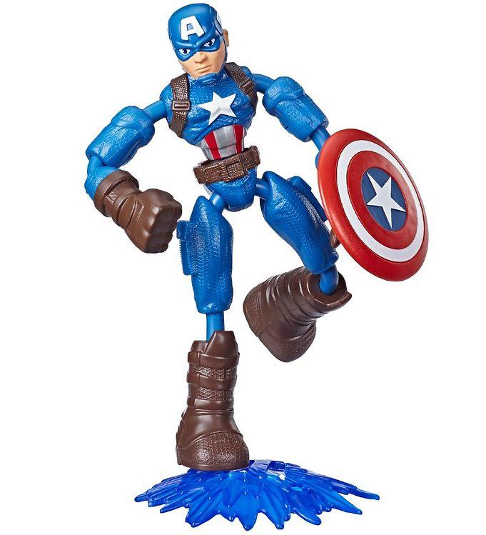 Image of Marvel Avengers Actionfigur - Bend & Flex - 15 cm - Captain Amer (XB452)