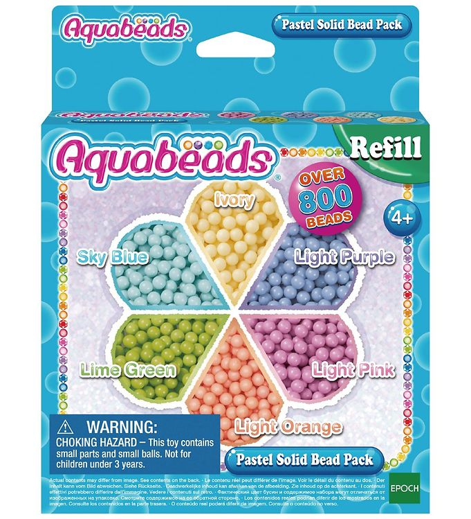 Image of Aquabeads Perler - 800+ dele - Pastel (XB505)