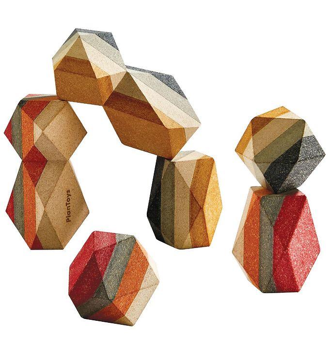 PlanToys Geometriske Sten - Natur - PlanToys Legetøj,PlanToys Trælegetøj,Stablelegetøj - PlanToys