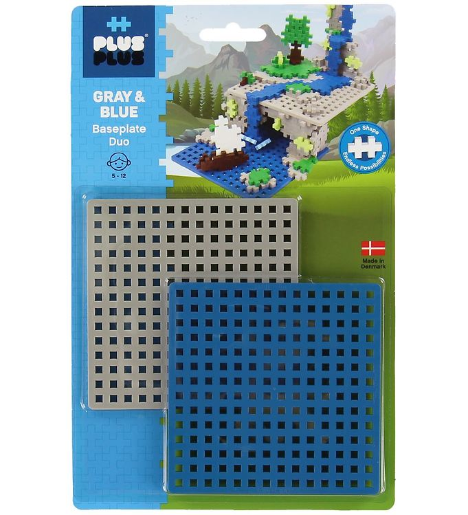 Image of Plus-Plus Baseplate Duo - Blå/Grå (XB643)