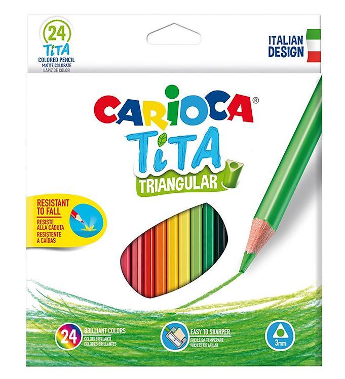 Image of Carioca Farveblyanter - Trekantet - 24 stk - Multifarvet (XB699)