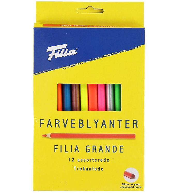 Image of Filia Farveblyanter - Grande - 12 stk - Multifarvet (XB700)
