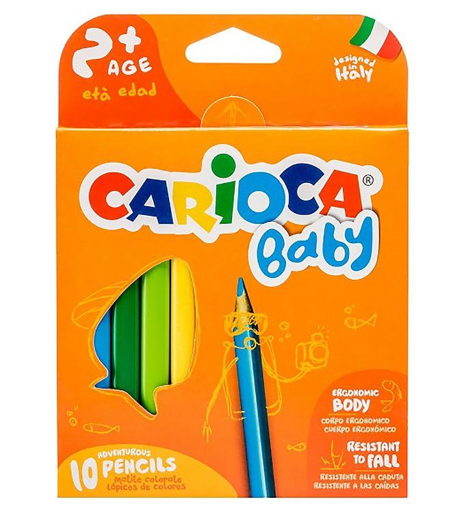 Image of Carioca Baby Farveblyanter - 10 stk - Multifarvet (XB701)