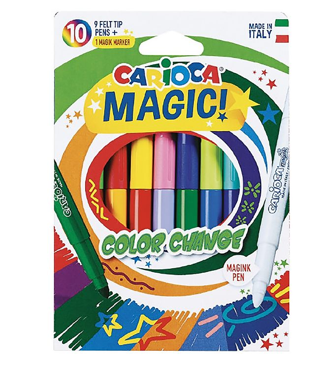 Image of Carioca Magiske Tuscher - 10 stk - Multifarvet (XB706)