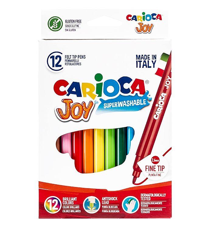 Image of Carioca Fine Tip Tuscher - 12 stk - Multifarvet (XB708)