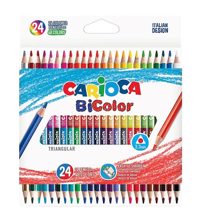 Image of Carioca Dobbeltfarvede Farveblyanter - 24 stk - Multifarvet (XB711)