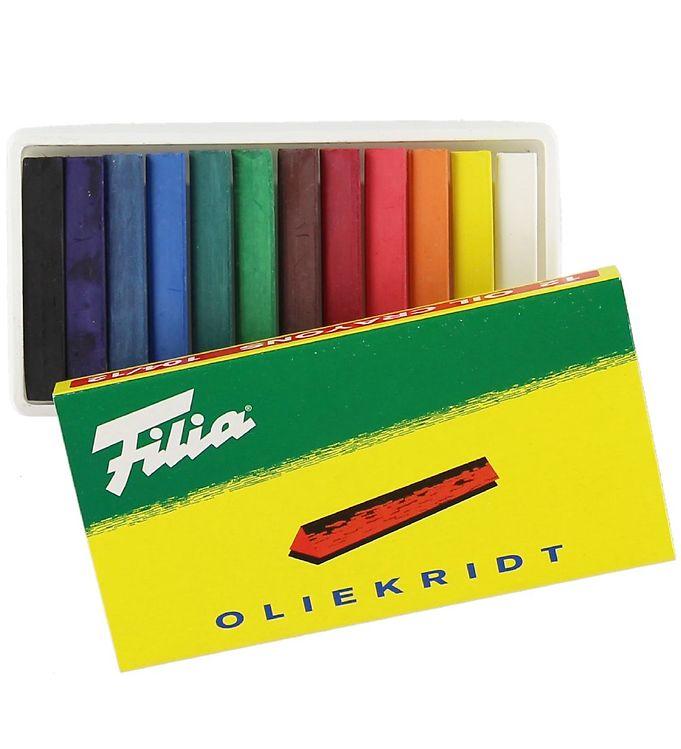 Image of Filia Oliekridt - 12 stk - 104/12 - Multifarvet (XB715)