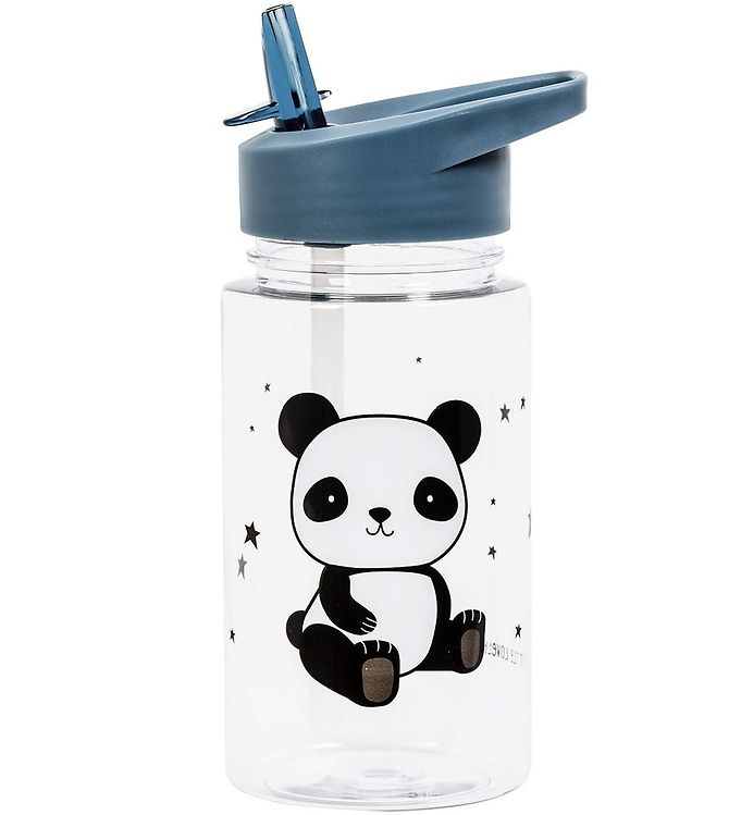 Image of A Little Lovely Company Drikkedunk m. Sugerør - 450 ml - Panda (XB927)