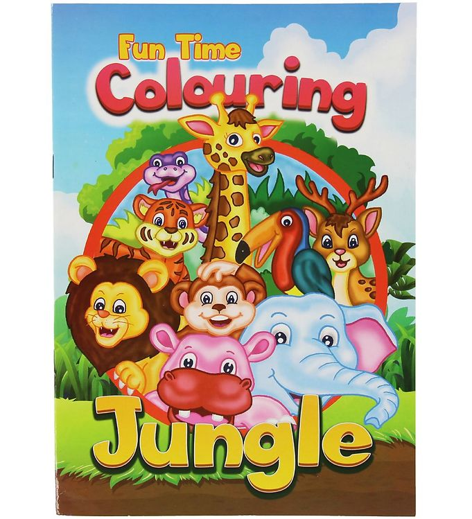 Image of Malebog - Fun Time Colouring Jungle - 16 Sider (XC486)