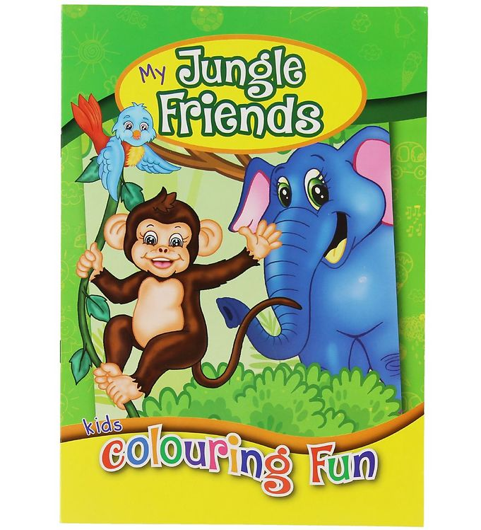 Image of Malebog - My Jungle Friends Colouring Book - 16 Sider (XC488)