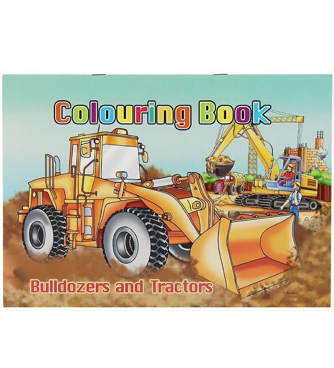 Image of Malebog - Bulldozers & Tractors Colouring Book - 16 Sider (XC495)