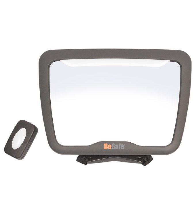 Image of BeSafe Babyspejl m. Lys - Baby Mirror XL2 - Sort (XC588)