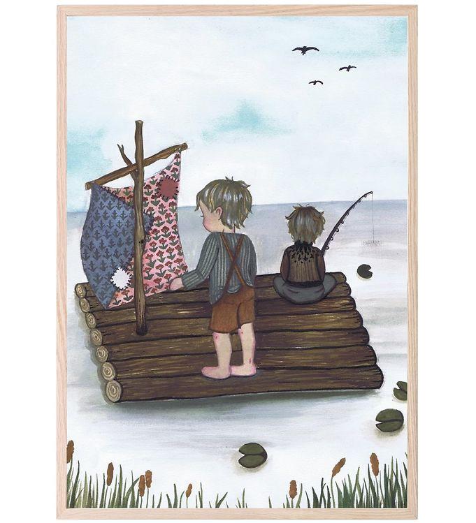 Image of That's Mine Plakat - 21x30 - Raft Fishing (XC611)